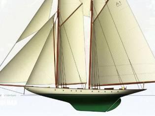 Herreshoff Two Masted Topsail Gaff Schooner Projec